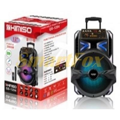 Портативная колонка Bluetooth в виде чемодана KIMISO QS-1294 (12`BASS)
