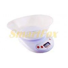 Весы бытовые кухонные YZ-1811A-EK-02 с овальной чашей