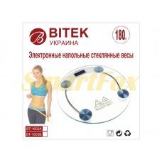 Весы бытовые BITEK YZ-1603A стеклянные круглые