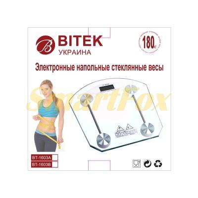 Весы напольные BITEK YZ-1603B стеклянные квадратные
