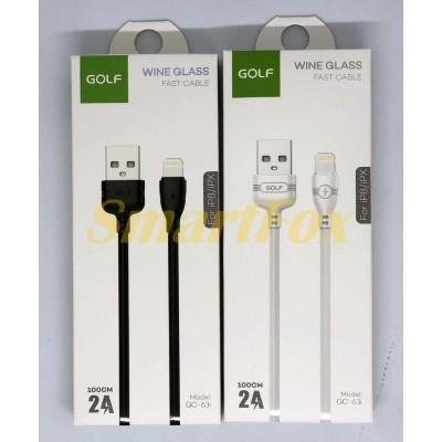 Кабель USB/IPHONE 5 GOLF GC-63 (1 м)