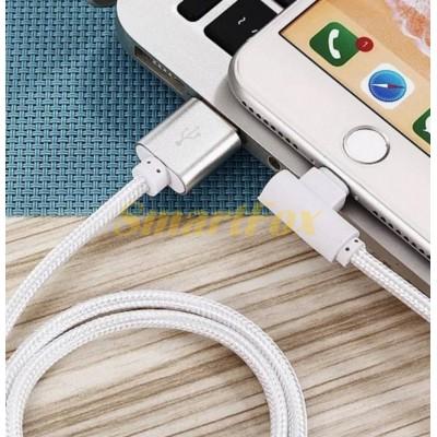 Кабель USB/TYPE-C REDDAX RDX-310 L круглый тканевый WHITE (1 м)