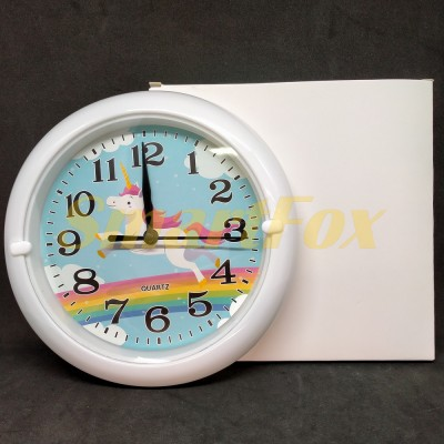 Часы настенные HA-181D круглые с рисунком (18 см)