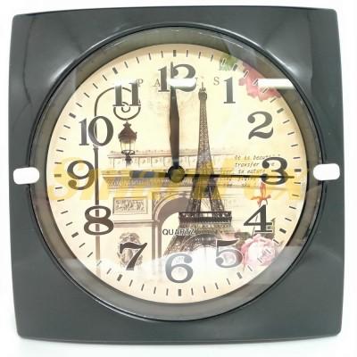 Часы настенные HA-182T квадратные с рисунком (16,5х16,5 см)
