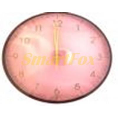 Часы настенные HYQ-3000 круглые с рисунком без шума (29 см)