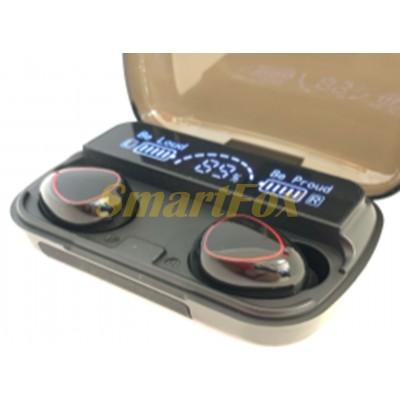 Блютуз гарнитура Stereo NEWEST M10 с сенсорной регулировкой + кейс для зарядки с индикатором