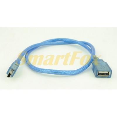 Кабель USB AF/5P (mini USB) (0,6 м)