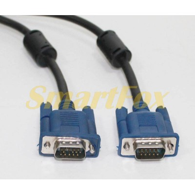 Кабель видео VGA/VGA 2 ферит. (3 м)