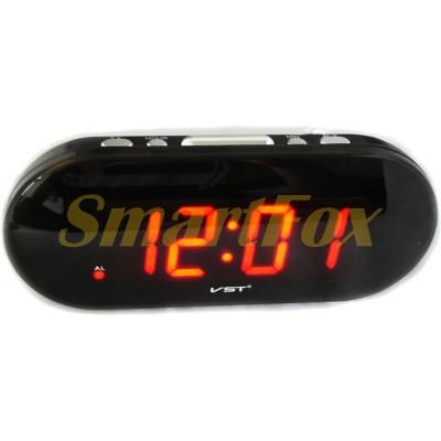 Часы настольные 717-1 с красной подсветкой