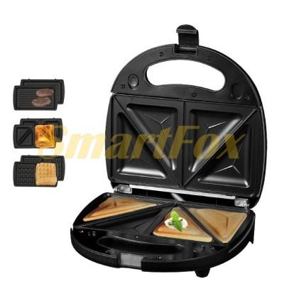 Гриль электрический+вафельница+сендвичница DSP KC1049 750Вт