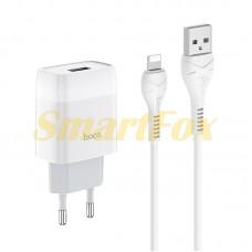 СЗУ USB с кабелем USB/IPHONE 5 Hoco C72A-IP