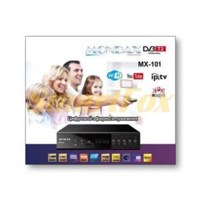 Приставка Т2 эфирная цифровая с экраном DVB-T2 MONDAX IPTV/YouTube/WiFi/MP4 T2-MX-101 пластик