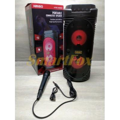 Портативная колонка Bluetooth в виде мини-чемодана KIMISO KMS-6683 BT (с проводным микрофоном) (4`BA
