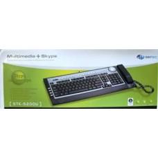 Клавиатура с телефонной трубкой STK-5200U