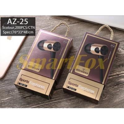 Наушники беспроводные вакуумные с микрофоном Bluetooth магнит AZ-25