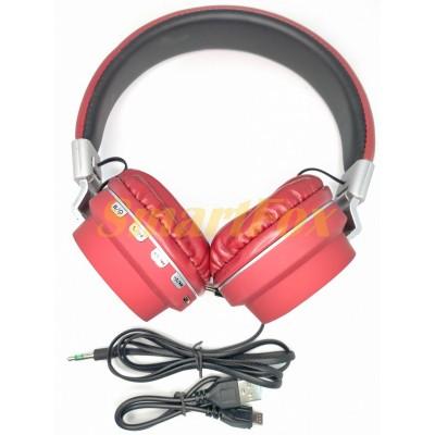 Наушники накладные BT FM SD дужка металл AZ-05-BT