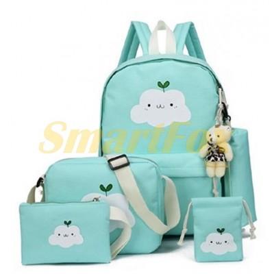 Набор школьный 5 в 1 рюкзак/сумка/пенал/косметичка/мешочек