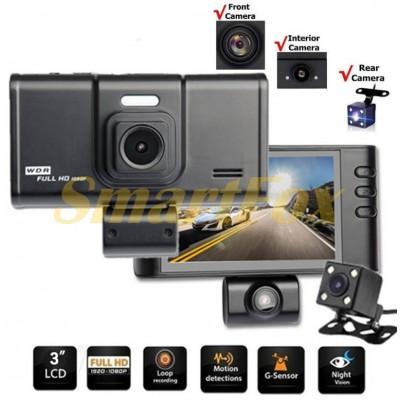 Авторегистратор T698 3 камеры