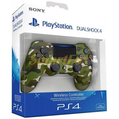 Игровой манипулятор (джойстик) PS4 беспроводной камуфляж микс