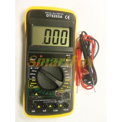 Мультиметр DT-9202 многофункциональный цифровой (звук/дисплей/измерение широкого спектра)