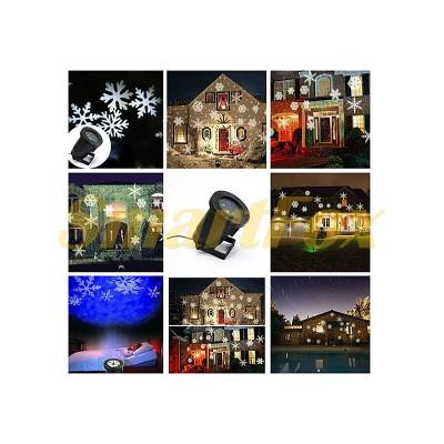 Проектор новогодний 12 картриджей 30шт PIC-07-12 (без обмена, без возврата)