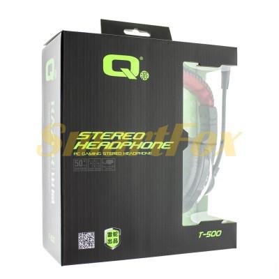 Наушники накладные с микрофоном QGame T500