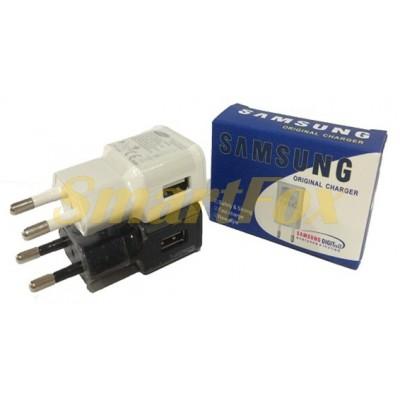 СЗУ USB BLUE GIFT для SAMSUNG (2000mah) BLACK/WHITE