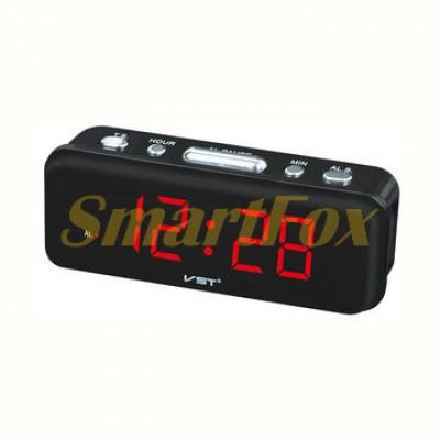 Часы настольные VST-738-1 с красной подсветкой