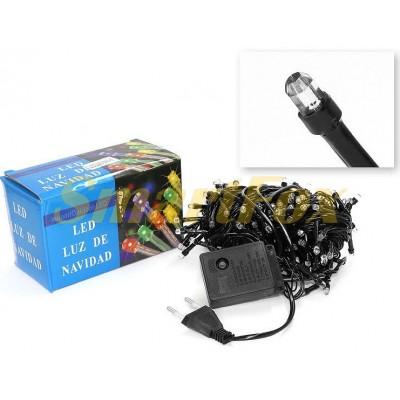 Гирлянда LED100W-7 черный провод и гексагональная лампа (белый) (без возврата, без обмена)