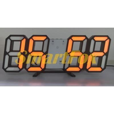 Часы настольные SL-6609 с оранжевой подсветкой
