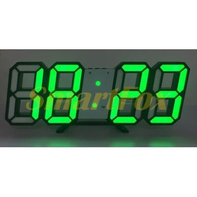 Часы настольные SL-6609 с зеленой подсветкой