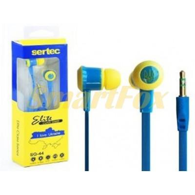 Наушники вакуумные SERTEC SQ-44 BLUE/YELLOW