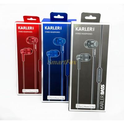 Наушники вакуумные с микрофоном KARLER KR401
