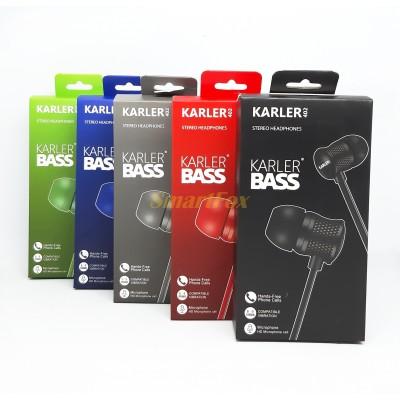 Наушники вакуумные с микрофоном KARLER KR402