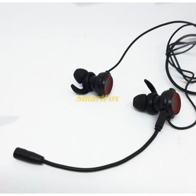 Наушники вакуумные игровые со съёмным микрофоном YESPLUS GM101