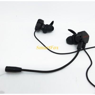Наушники вакуумные игровые со съёмным микрофоном YESPLUS GM102