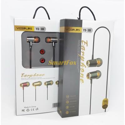 Наушники вакуумные с микрофоном YESPLUS YS301