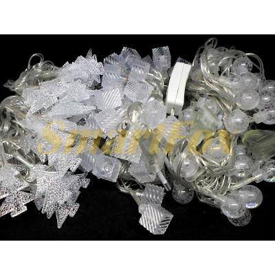 Гирлянда 40-PLASTIC-M-5 40 фигур прозрачный провод (микс) (без возврата, без обмена)