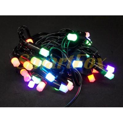 Гирлянда PLASTIC-40-7M-BLACK-LINE 40 матовых шестигранных ламп (микс) (без возврата, без обмена)