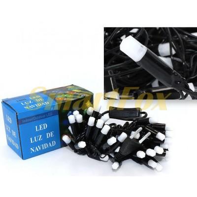 Гирлянда 40-PLASTIC-M-7 40 матовых шестигранных ламп черный провод (микс) (без возврата, без обмена)