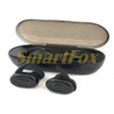 Блютуз гарнитура 01 с сенсорной регулировкой + кейс для зарядки с индикатором