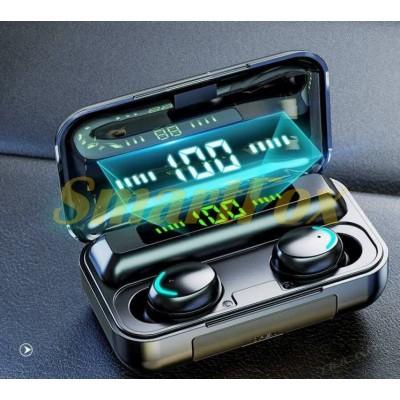 Блютуз гарнитура F9-8 с сенсорной регулировкой + кейс для зарядки с индикатором + Power Bank