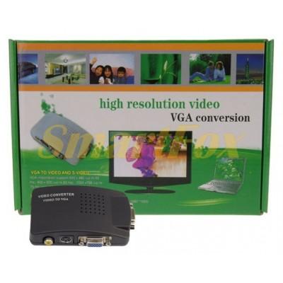 Конвертер AV/VGA (зеленая коробка)