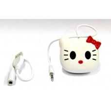 Портативная колонка для телефонов, планшетов, ноутбуков с аккум. на присосках Hello Kitty