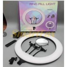 Лампа LED для селфи кольцевая светодиодная 520A + MIRROR + BAG (54 см)