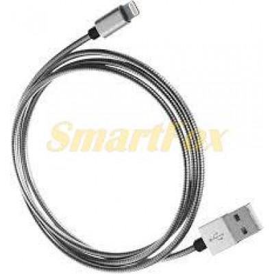 Кабель USB/Lightning металл (1 м)