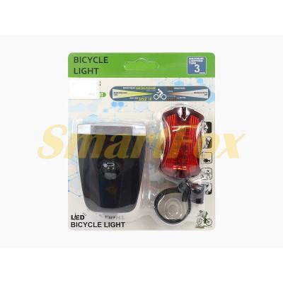 Фонарь велосипедный Bailong BL-T0598-3 (передний+задний)