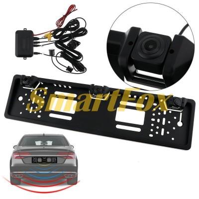 Номерная рамка с парктроником и камерой заднего вида SCK-333