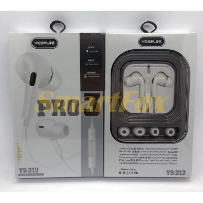 Наушники вакуумные с микрофоном YESPLUS YS212 PRO 3