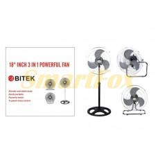 Вентилятор напольный 3в1 BITEK BT-1882 (цена за 1шт, продажа упаковкой 2шт)